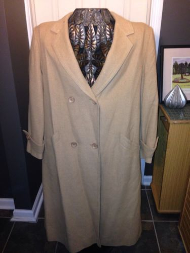 100% Camel Coat By Fleurette Of Calif. Sz   L Exec Cond Sexy