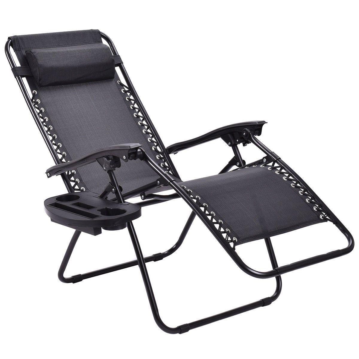 Goplus Zero Gravity Chairs Lounge Patio Folding Recliner