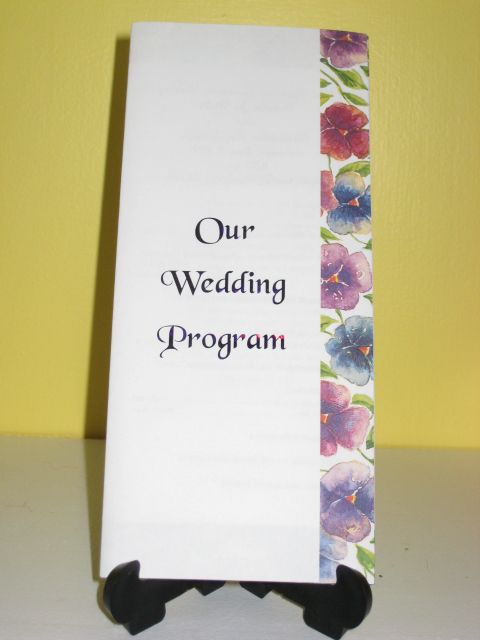 trifold wedding program template free