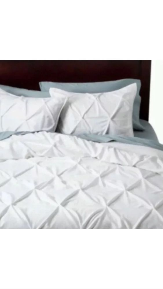 soft ease bedding cover sale silky duvet comforter piece sets style pinched pintuck set luxury with