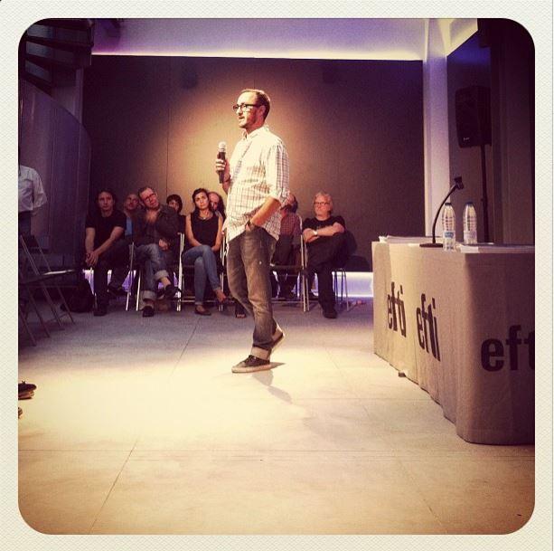 13_09_2013 Presentación Máster 2012/13, Jorge Salgado coordinador general de EFTI habla para los nuevo alumnos.