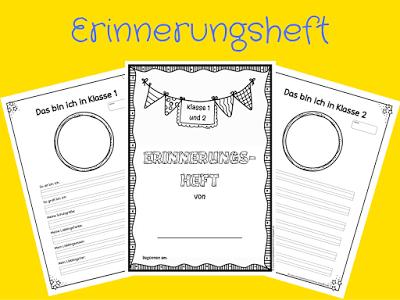 Sonniges Klassenzimmer Erinnerungsheft Fur Klasse 1 2 Und 3 4 Zeugnis Grundschule Schule Grundschule