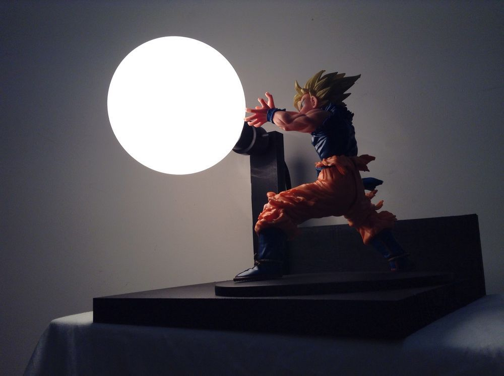 Goku Super Saiyan Kamehameha Lamp Custom Display Lamp Anime Manga Lamp |  EBay