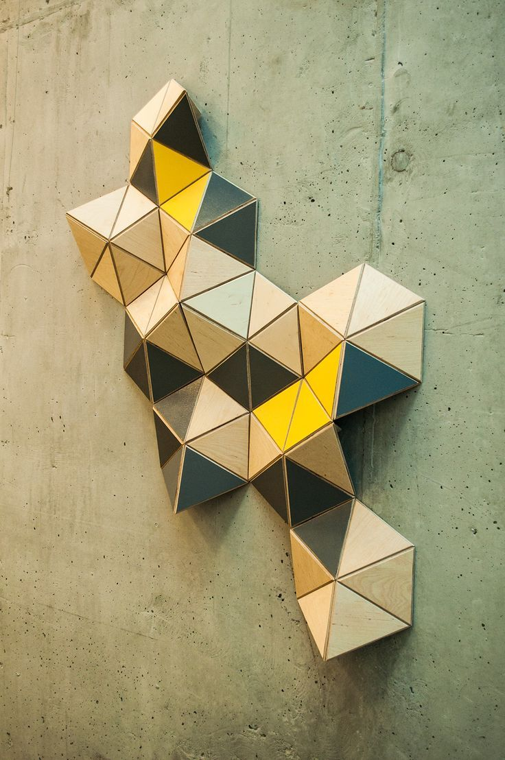 Modular Wall Sculpture - realization on Behance | Geometric ...