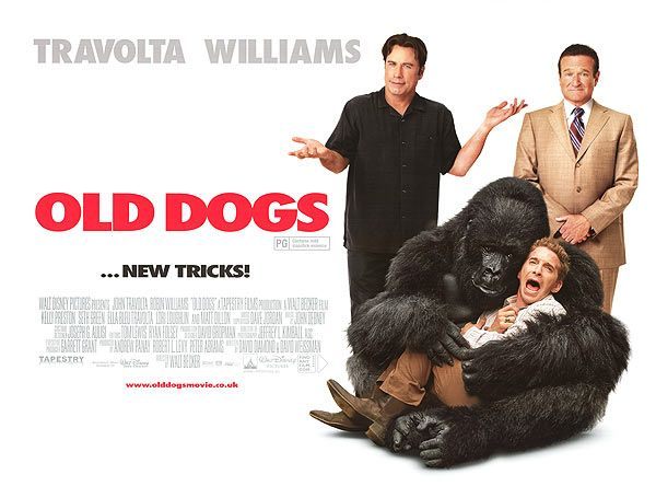 Old Dogs Movie Poster With John Travolta Robin Williams Dog Movies Old Dogs Robin Williams