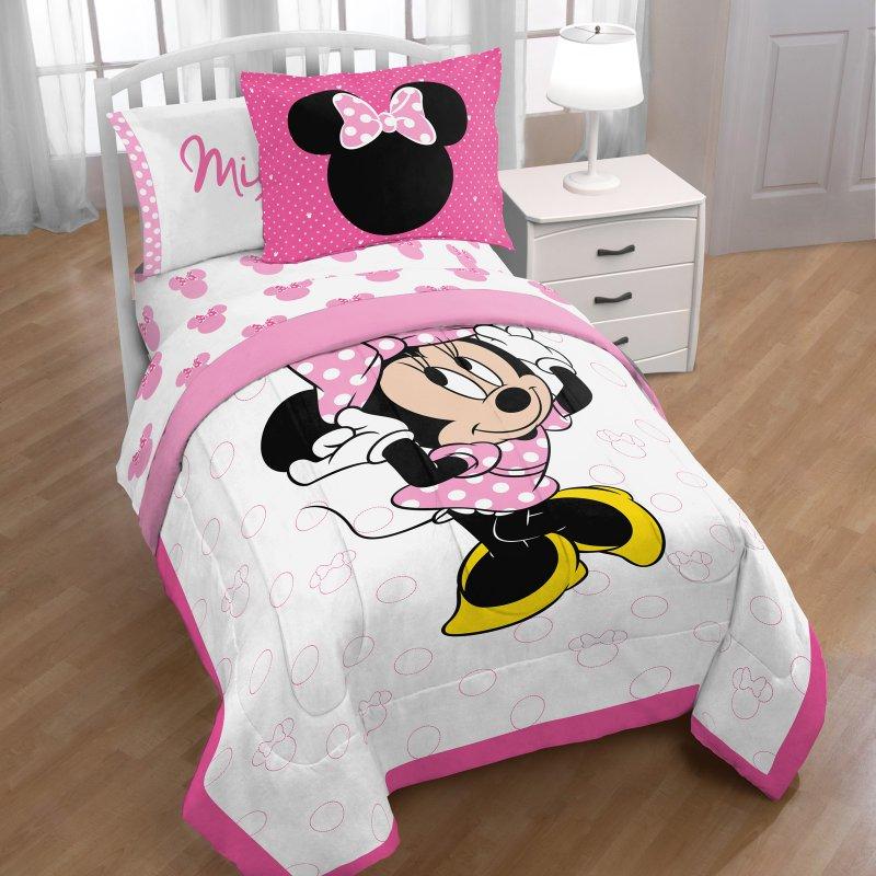 Amazon Com Minnie Mouse Flower Garden 4 Piece Toddler Bedding