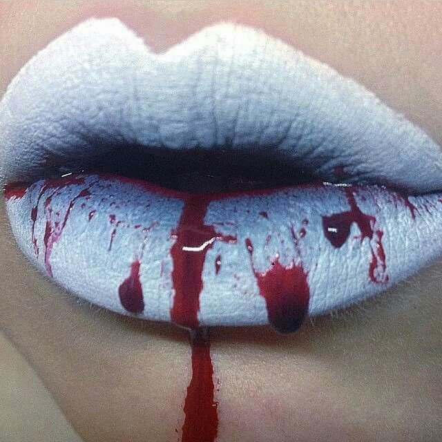 Bloody lips #Halloween