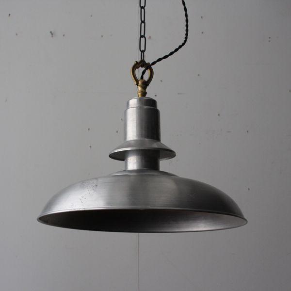 Vintage aluminum shade pendant lamp vintage aluminum shade pendant lamp mozeypictures Image collections