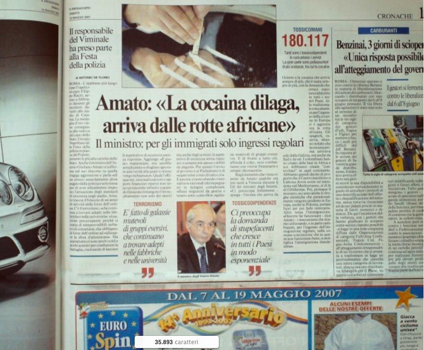 Il Messagero 11 maggio 2007