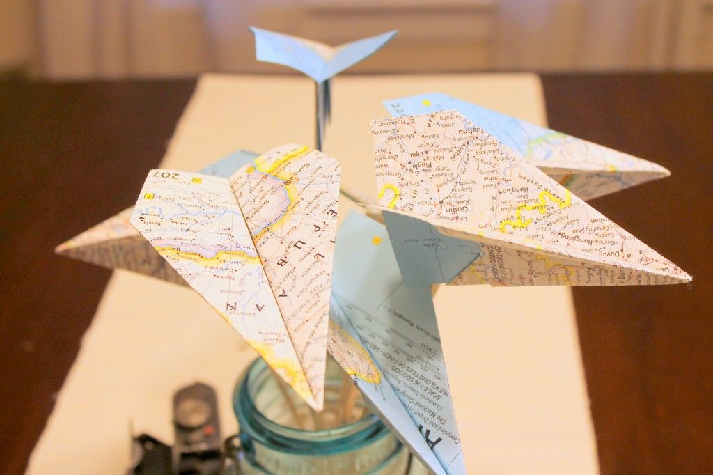 Make It Monday: Map Paper Airplanes by Found and Free Cottage