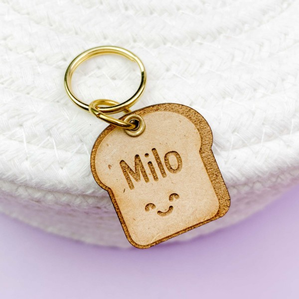 Happy Bread Pet Id Tag Pet Id Tags Pet Id Pet Tags