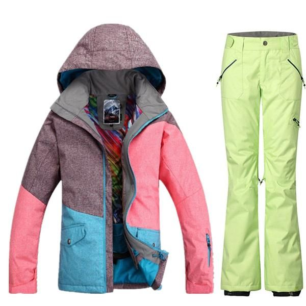 0842b4149d6  BlackFriday is coming early  BestPrice  CyberMonday GSOU SNOW Brand  Waterproof Ski Suit Women Ski Jacket Pants Winter Mountain Skiing Suit…