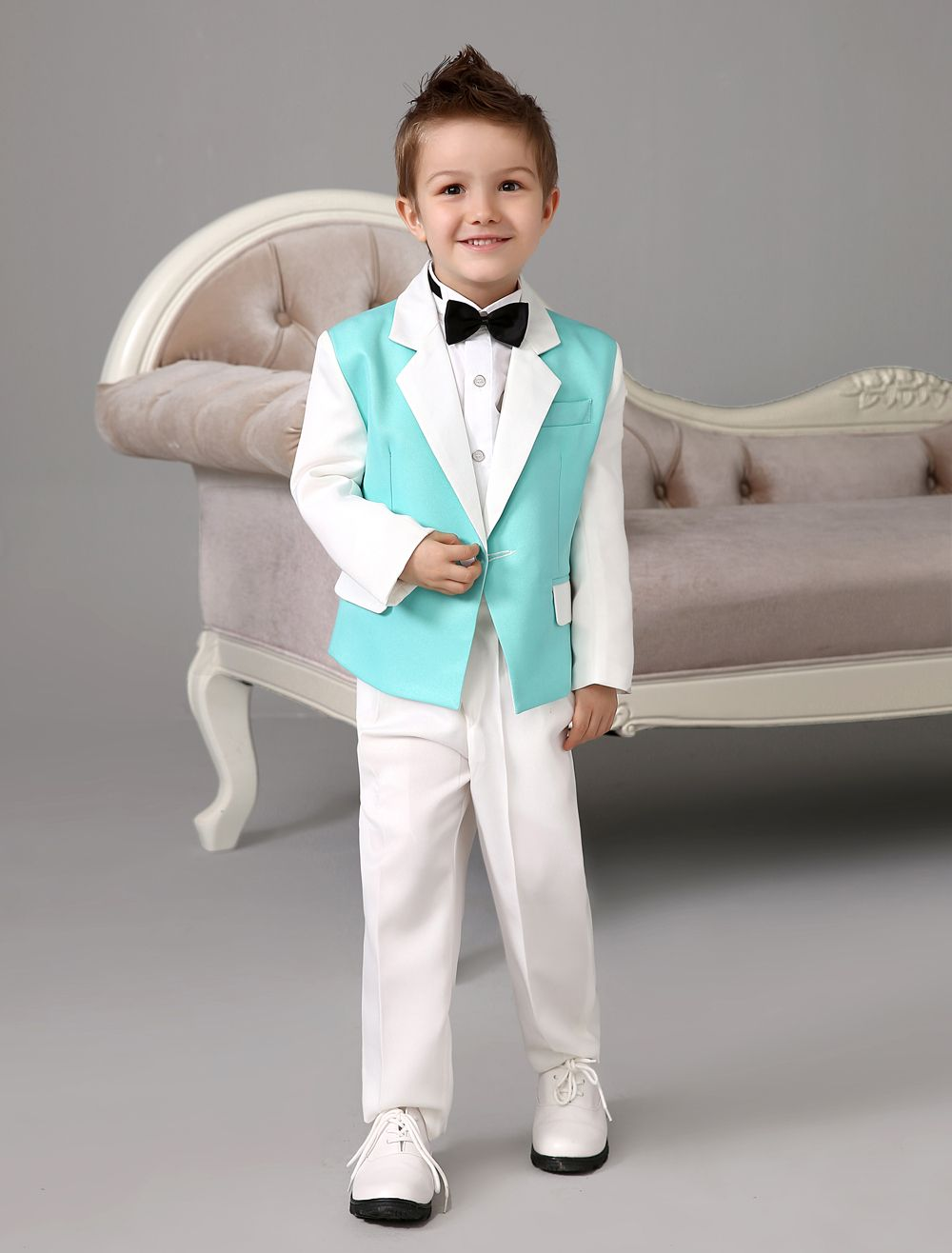 Four-Pieces-Luxurious-formal-green-and-white-boys-suits-Ring-Bearer ...