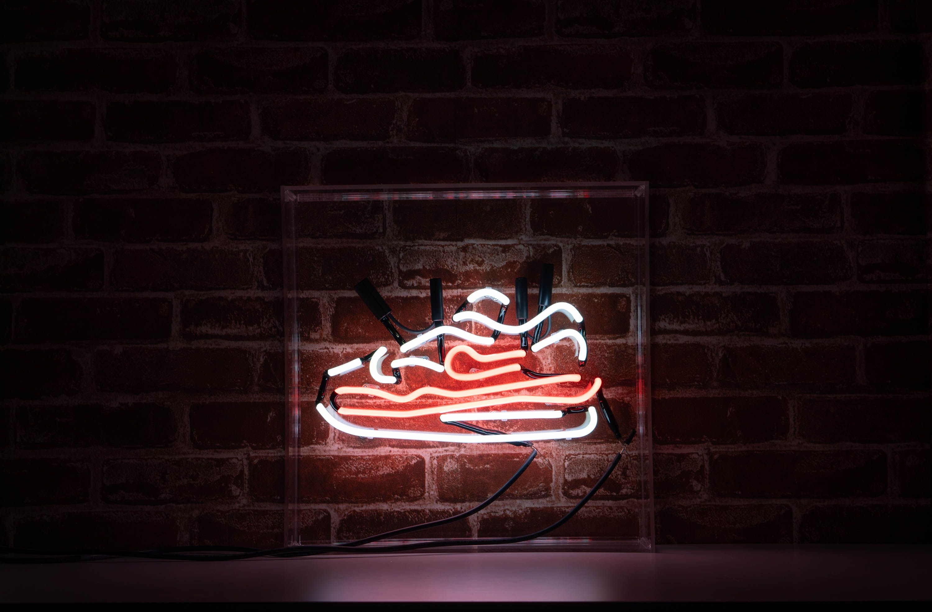 Nike Sneakers In A Neon Neon Signs Neon Nike Signs