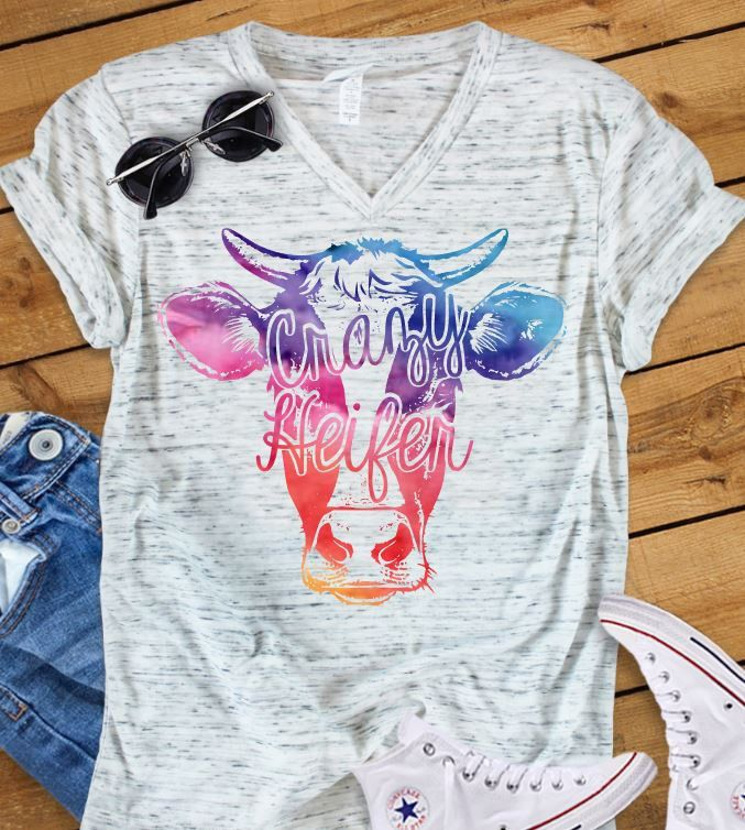 8ebb7a09c Crazy Heifer Shirt, Cow Shirt, Cow T-shirt, Farm Shirt, Heifer Shirt, Ranch  Shirt, Farmer, Country, Western, Graphic Tee, Cow's by CutFromTheHeart on  Etsy