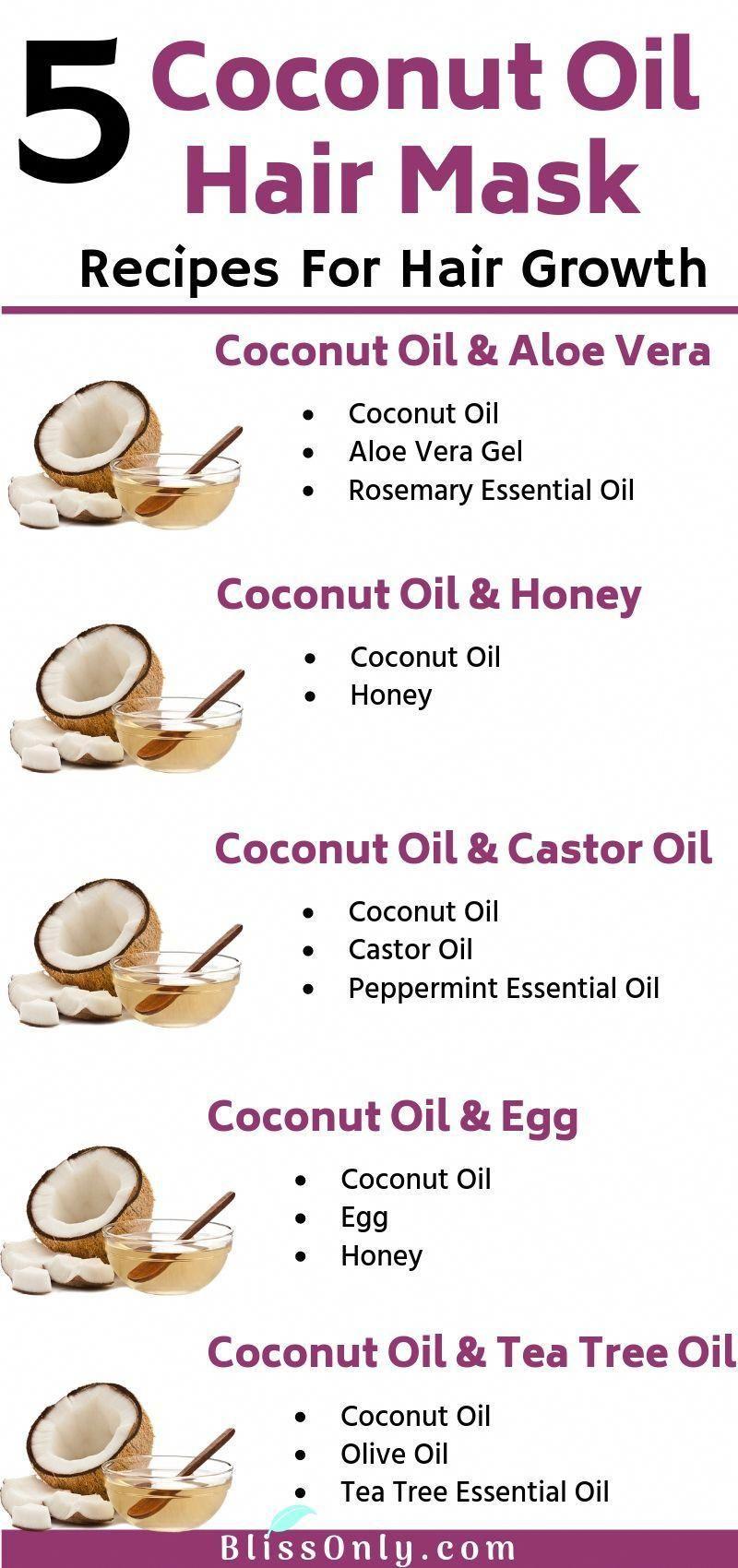5 best coconut oil hair mask recipes for hair growth