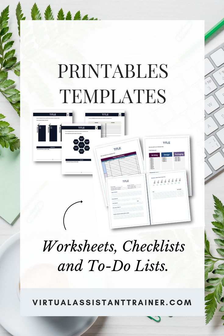 Printables Templates Business Builder Shop Template Printable Templates Virtual Assistant