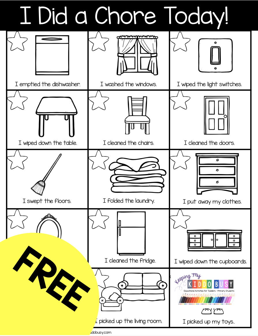FREE kindergarten activities and printables for at home learning - schedules and daily chores,  #activities #chores #daily #Free #Home #homeschoolingideaspreschool #kindergarten #learning #Printables #schedules