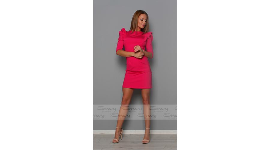 edb04e737d Envy rózsaszín vállain fodros, hátán masnis ruha | Trend for Me Kft ...