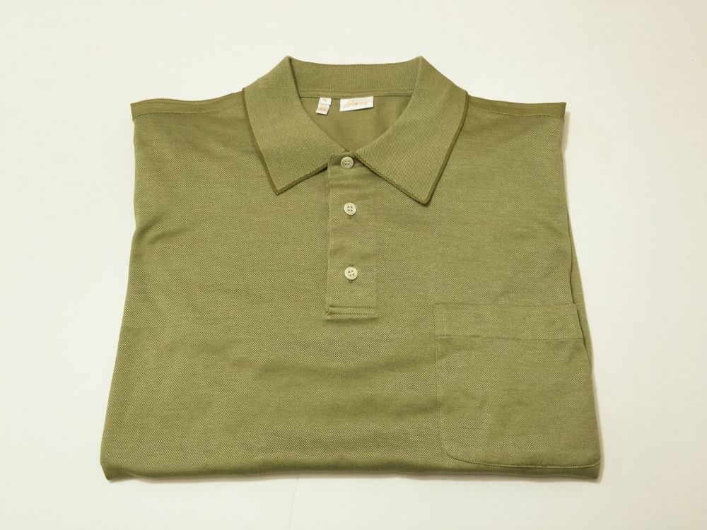 Brioni XL Men's Cotton Polo Golf Shirt Short Sleeve Made in Italy #Brioni #PoloRugby
