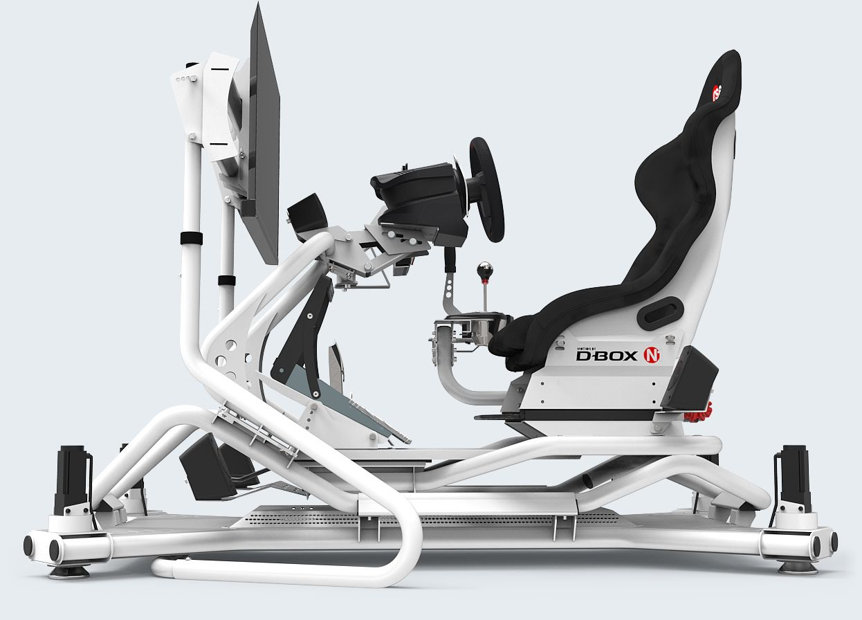 Rseat N1 M4a 1500 White Motion Simulator Rseat Gaming