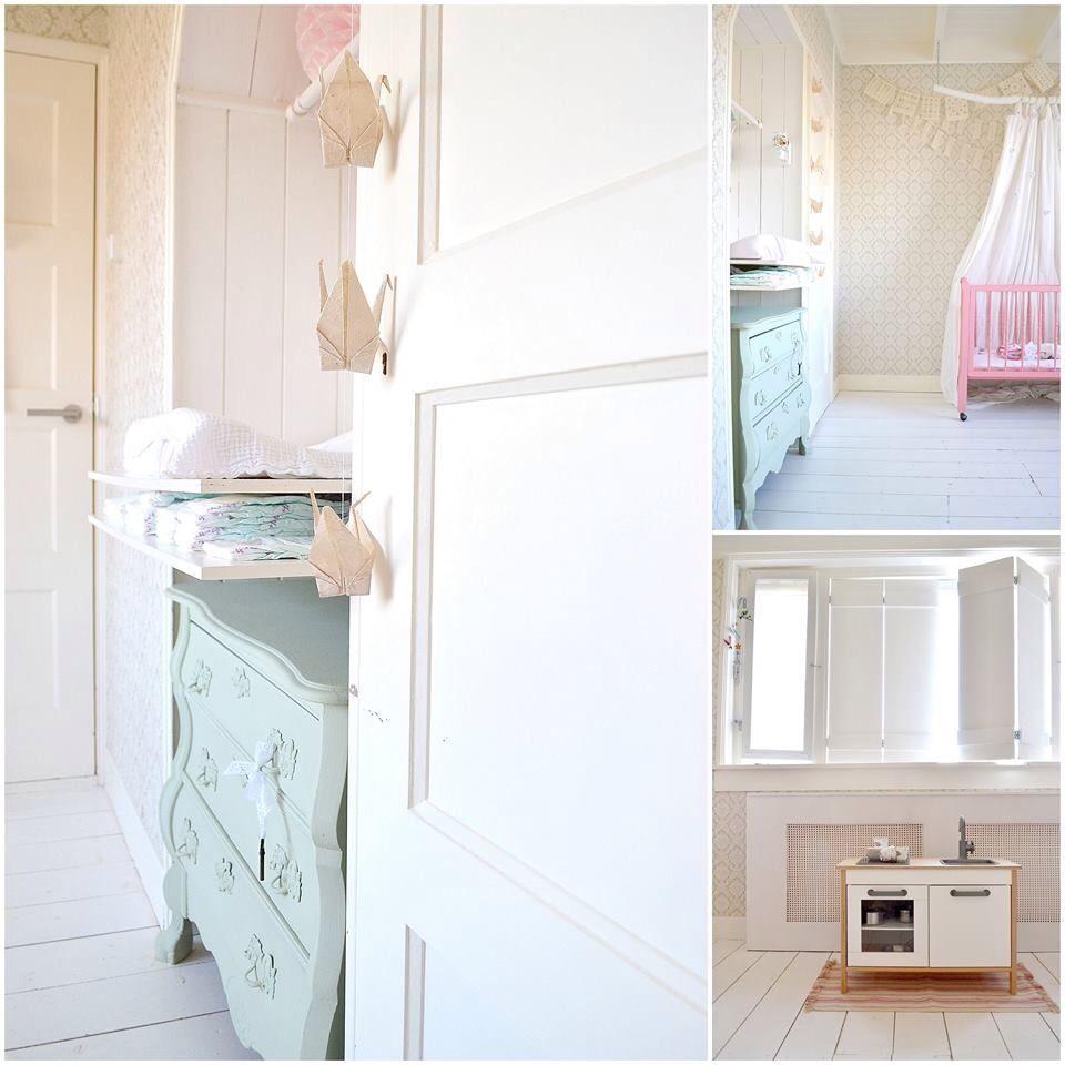 FRIVOLE interior, nursery, girlsroom, kidsroom, pastel, vintage mint ...