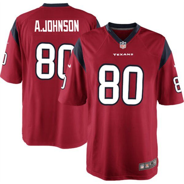 Nike Andre Johnson Houston Texans Game Jersey - Red  8c53f2557