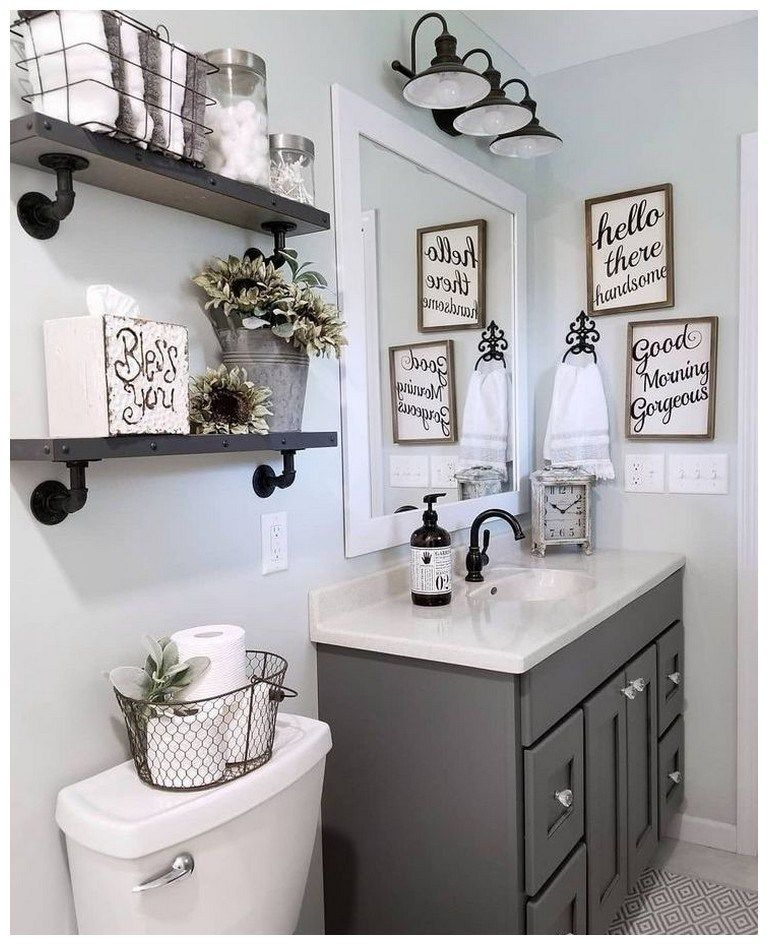57 farmhouse bathroom organization ideas 38 #smallbathroomremodel