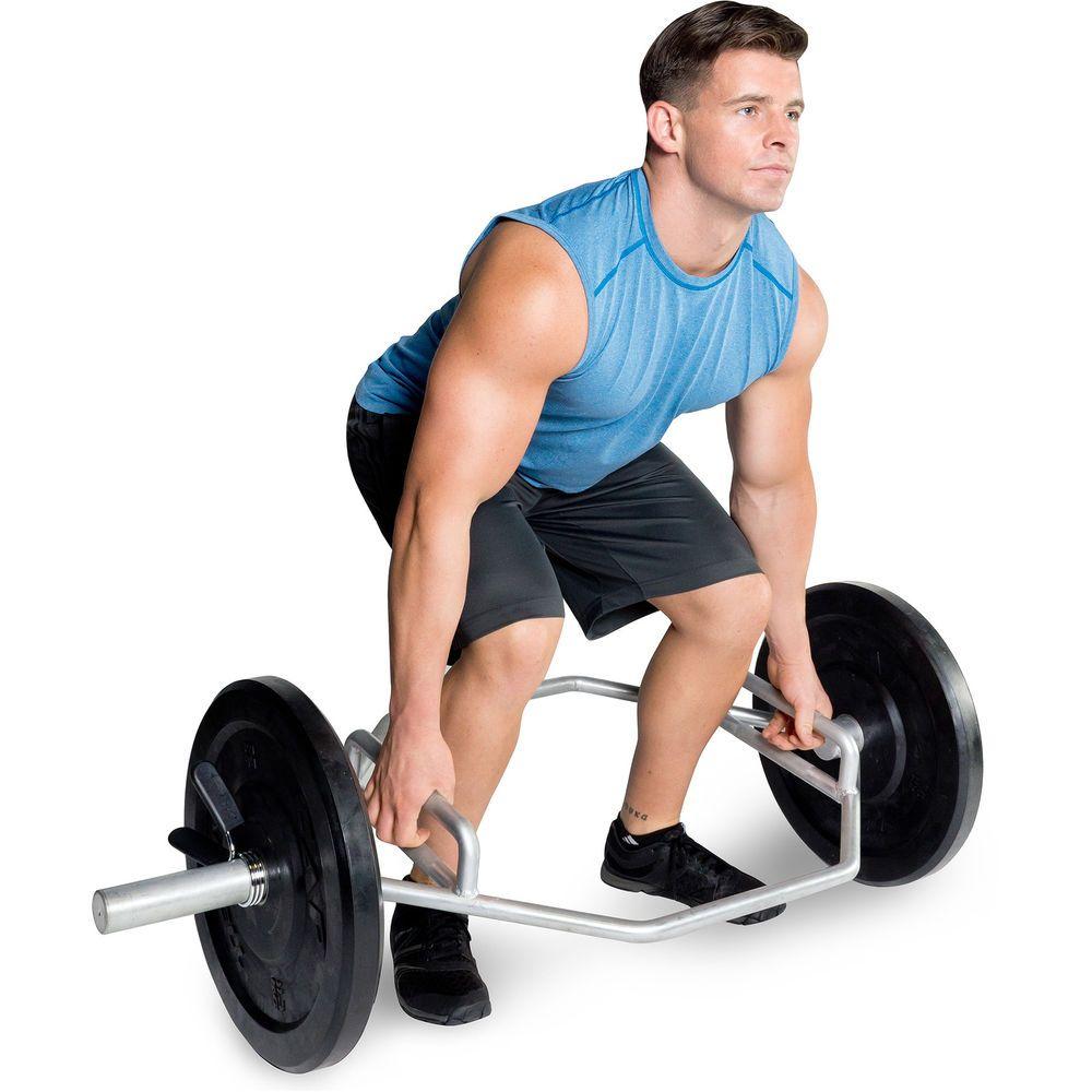 "Trap /""Hex/"" Bar Shoulder Shrugs Deadlifts Powerlifting Equipment"