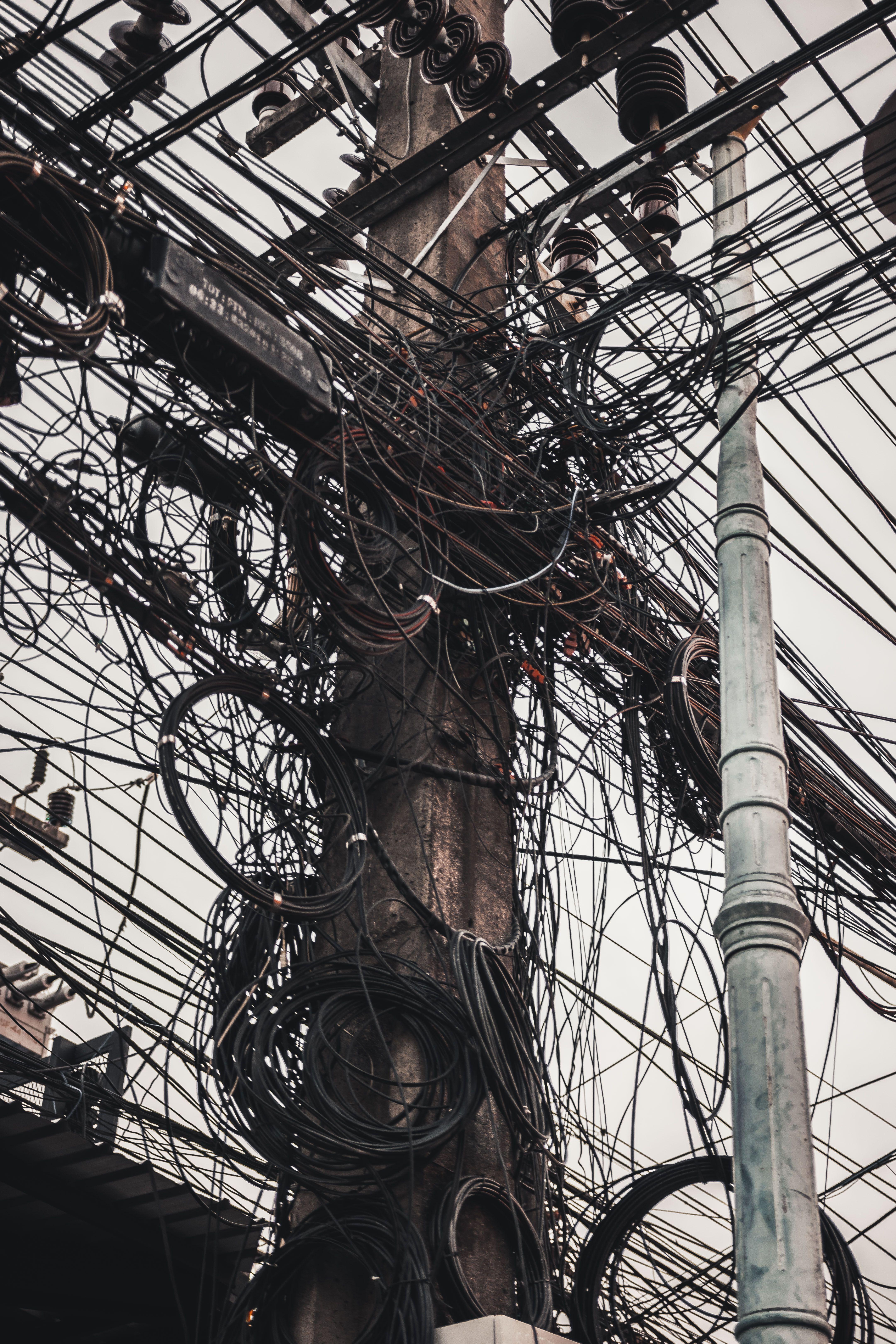 Electrical Spaghetti Messy Electrical Wiring At Phuket Phuketthailand Patongbeach Banglaroad Electri Travel Picture Ideas Walking Street Patong Beach