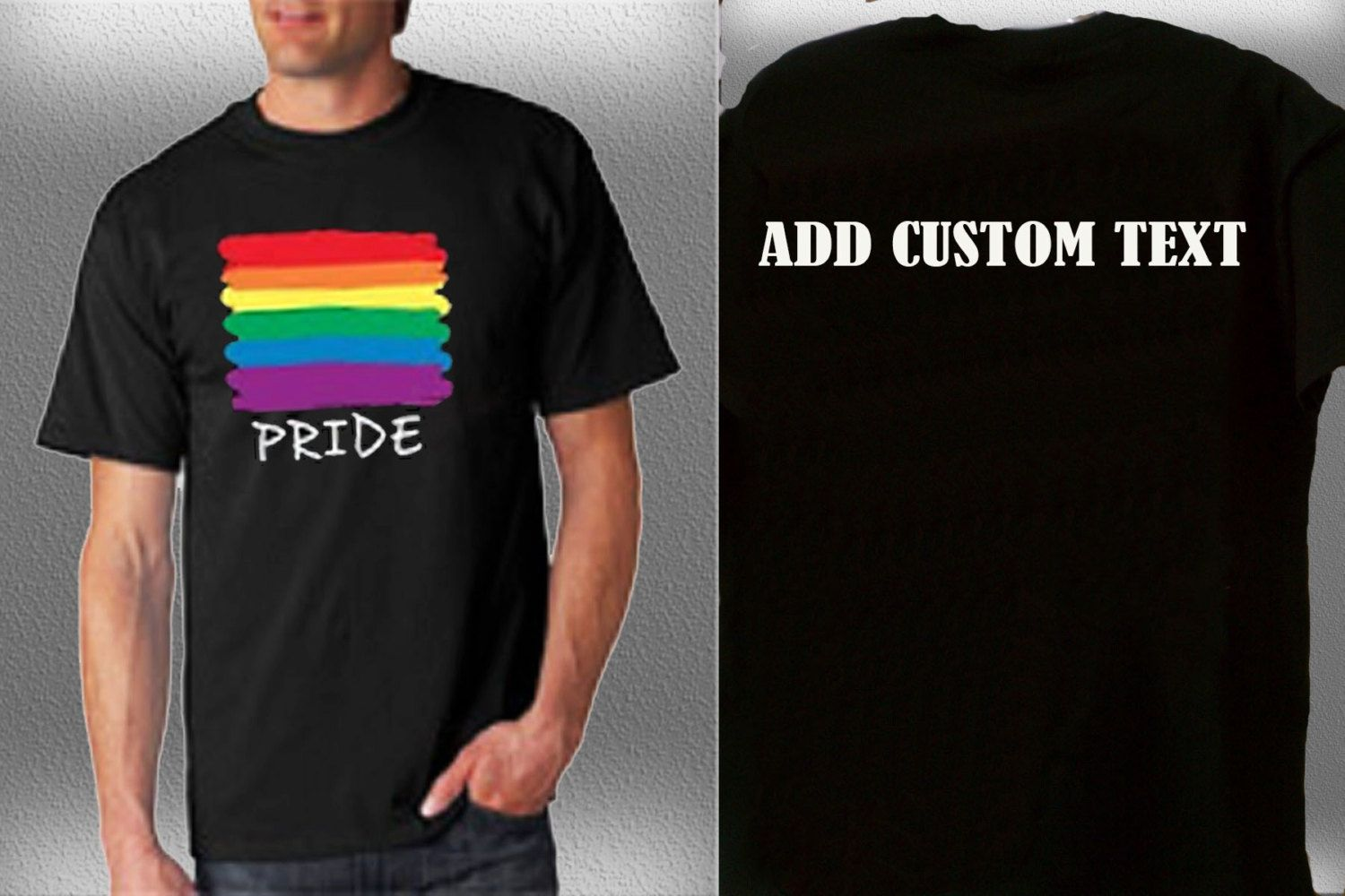 Gay Pride Shirt Add Custom Text LGBT Support Respect Rainbow Bisexual  Relationship Marriage Legal Colors Mens Womens Homosexual Gifts by  StraightWholesale ...