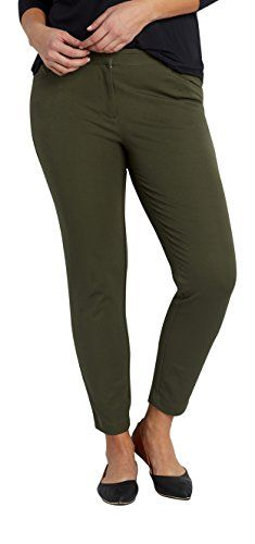 e2203bd1bdf Maurices Womens The Smart Plus Size Round The Clock Skinny Ankle Pant In  Olive 18 Dark