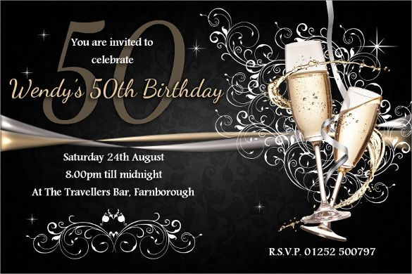Resultado De Imagen Chic 50 Th Birthday Invitation Cards