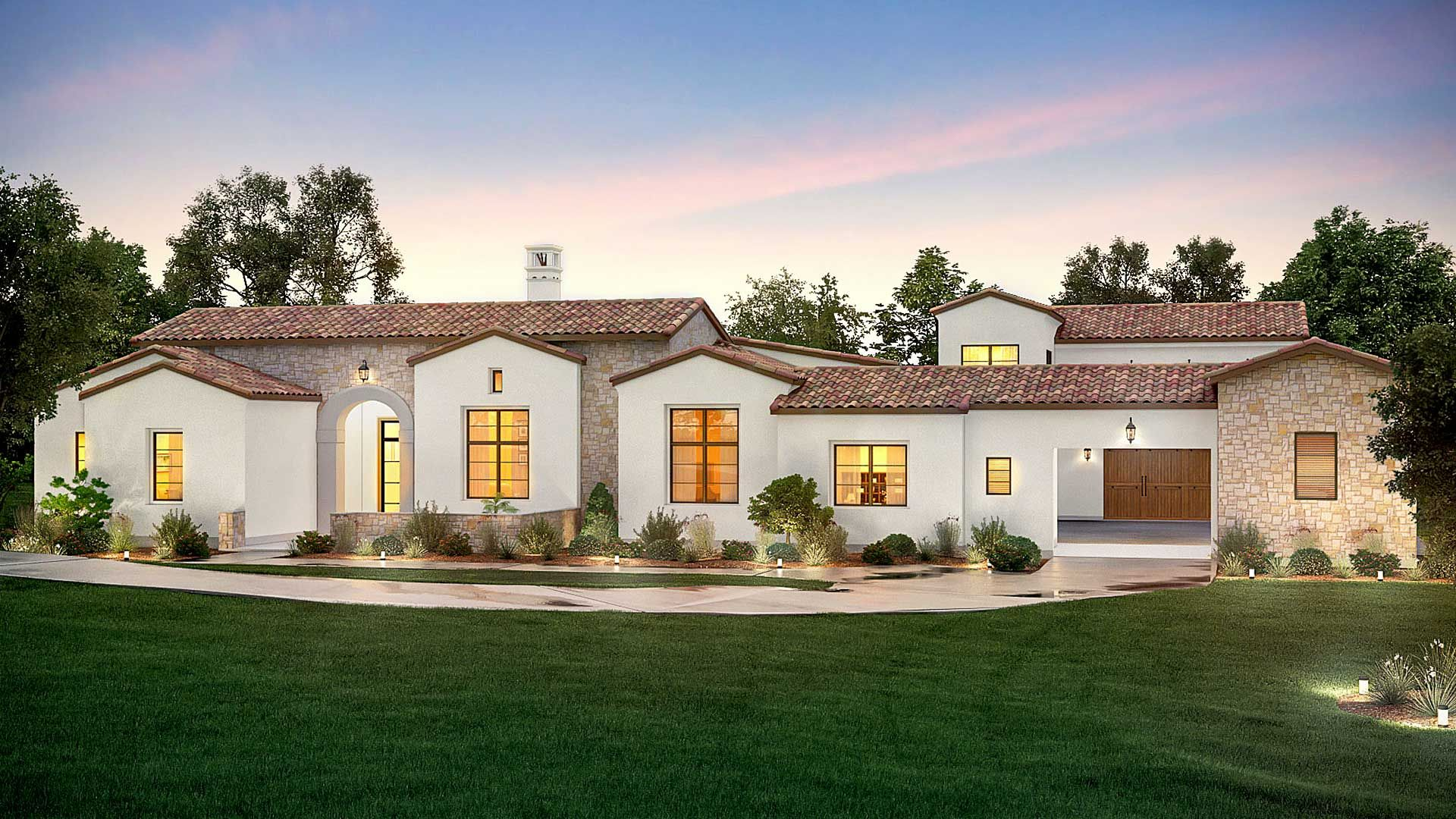Garner Homes Current Projects Spanish Revival Home Spanish Style Homes Hacienda Style Homes