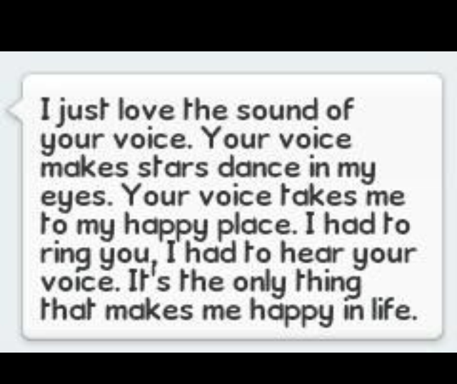 i love the sound of your voice