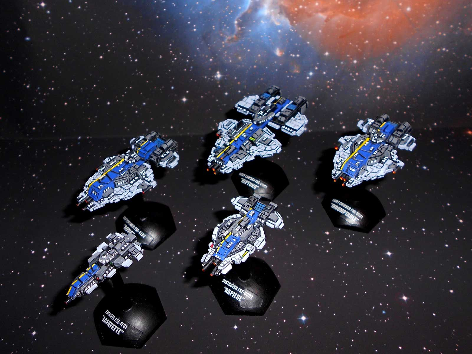 GGZ Full Thrust FSE spaceships Miniatures, Lego models