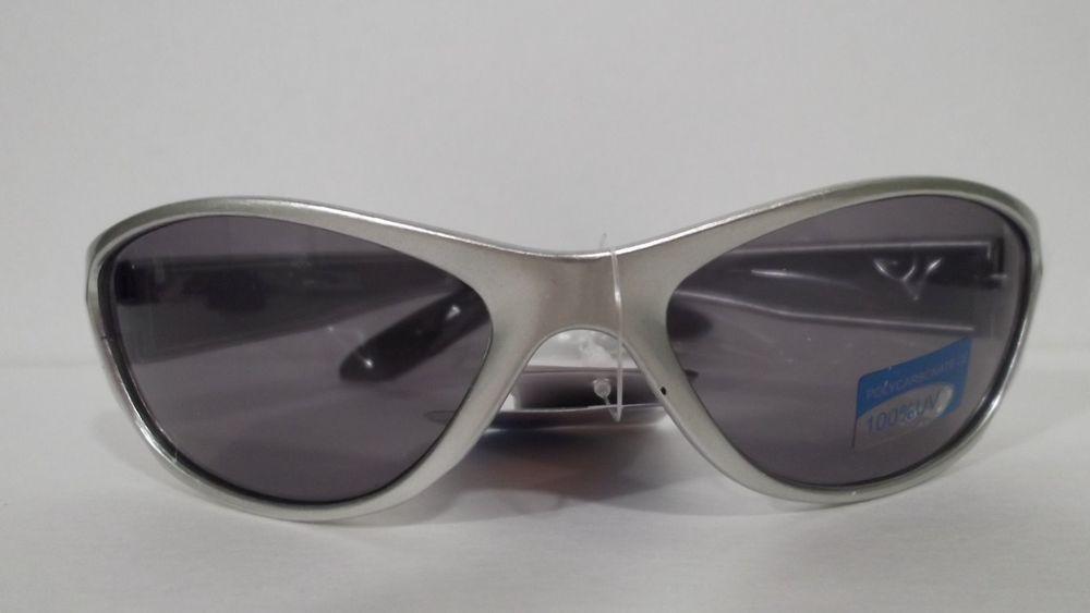 Mens Wrap Style Silver Frames Sunglasses