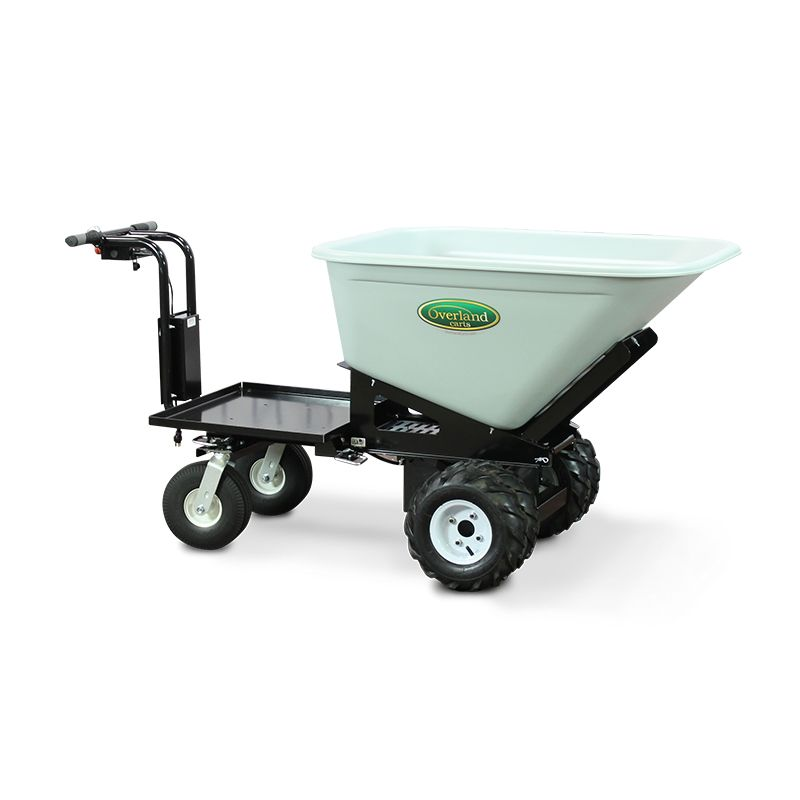 Overland Electric Powered Wheelbarrow 10 Cu Ft With Platform Wheelbarrow Powered Wheelbarrow Overlanding