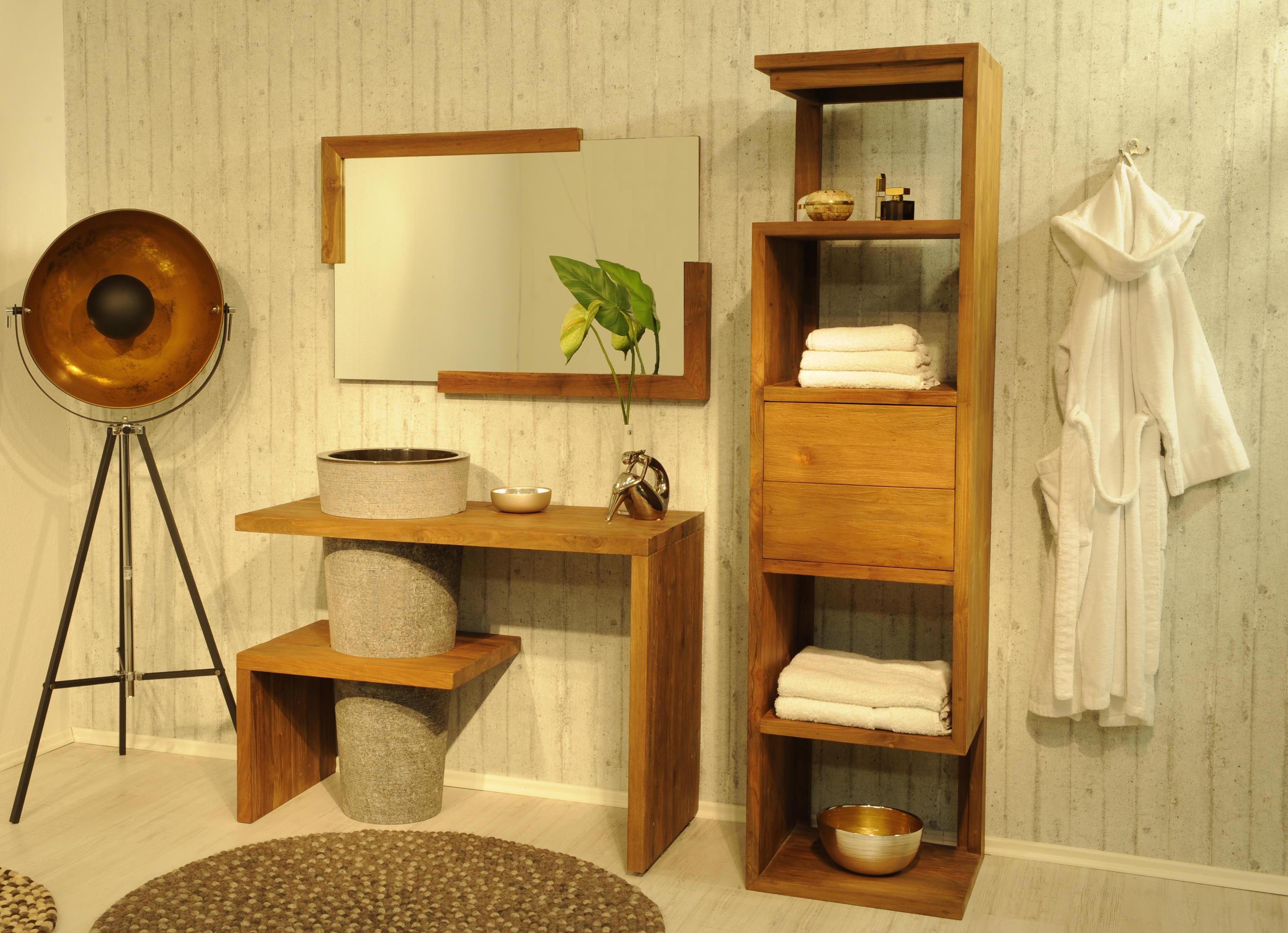 Sam Badmobel Set Teak Marmor Becken Mit Regal Lombok Auf Lager Produktfoto Badmobel Set Waschtisch Holz Haus Deko