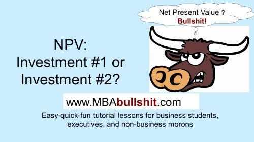 Net Present Value Investment 1 or 2? Lecture Slides (BETTER THAN Your Textbook CHEAT-SHEET Series) by David Michael. $3.26