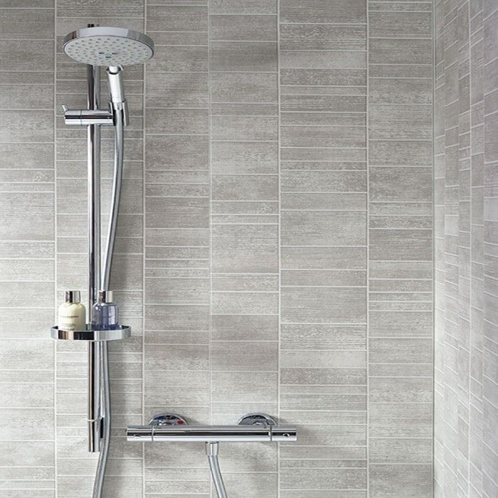 Dumapan Stone Tile Grigio Piccolo Shower  Bathroom  Pinterest Awesome Waterproof Wall Panels For Bathrooms Review