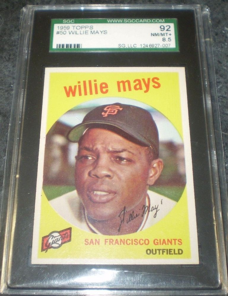 1959 Topps Willie Mays 50 Sgc 92 85 Nm Mt 007 Eye Appeal