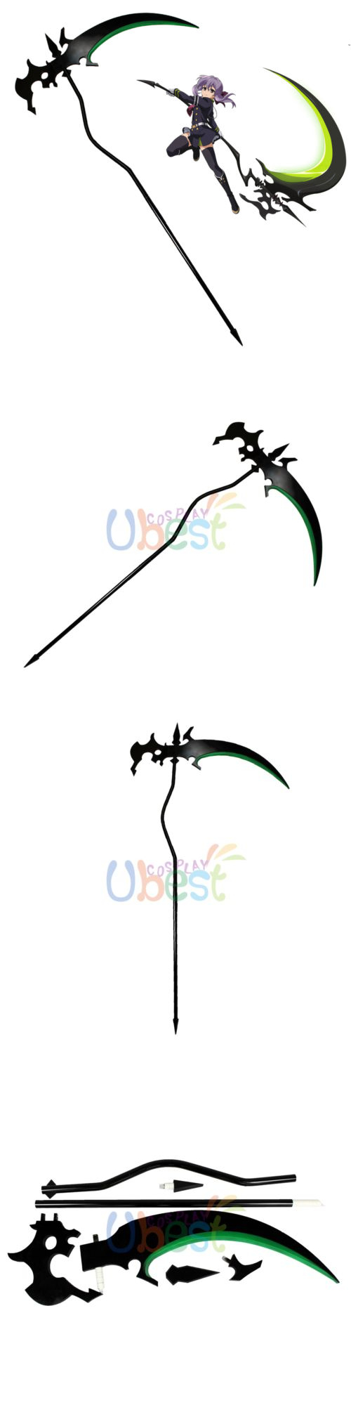 "Seraph of the End//Owari no Serafu Hiragi shinoa Scythe PVC Cosplay Prop 75"""