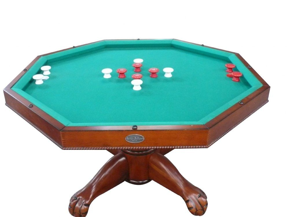 3 In 1 Table Octagon 48 W Bumper Pool With Slate Bed In Antique