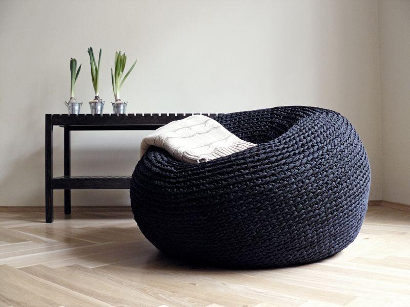 Knotty Floor Cushion By Kumeko 295 Modern Bean Bag Chairs Floor Pouf Large Floor Cushions