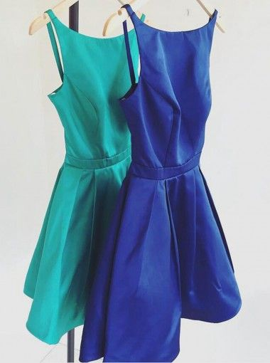 Classic Bateau Homecoming Dress, Party Dresses, Sleeveless Homecoming Dress…