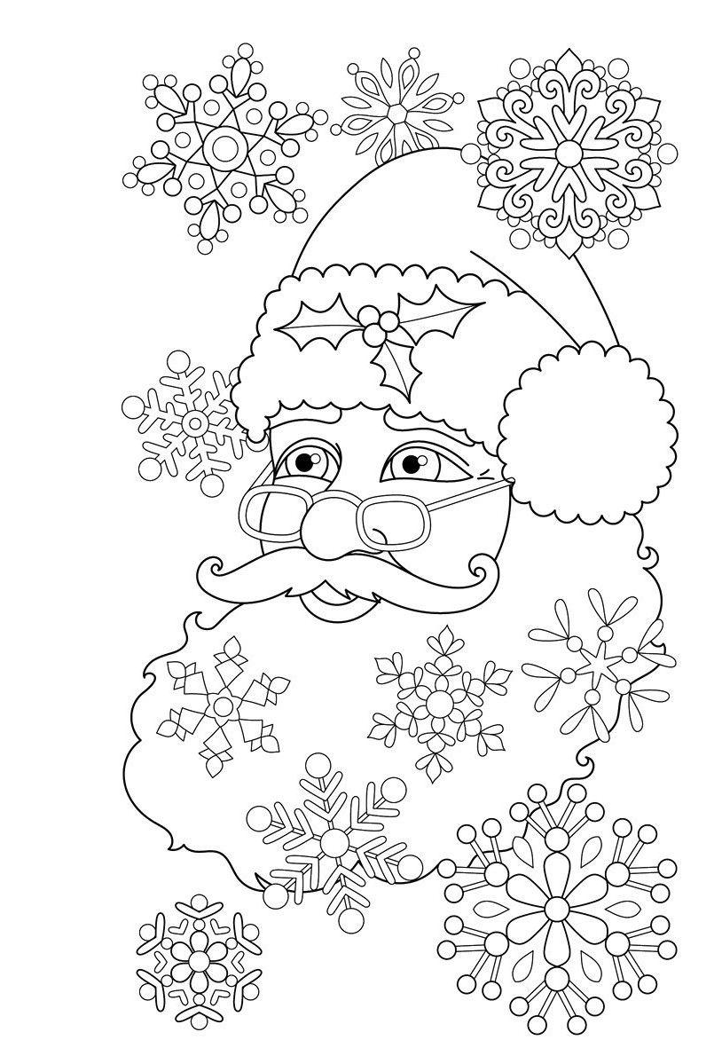 раскраски новый год дед мороз Coloring праздники