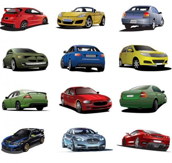 12 Shiny New Cars Vector Icons Set - http://www.dawnbrushes.com/12-shiny-new-cars-vector-icons-set/