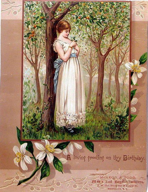 4281449937 8109178c4d 1880s Victorian Birthday Card O Birthday Cards Vintage Greeting Cards Birthday Greeting Cards