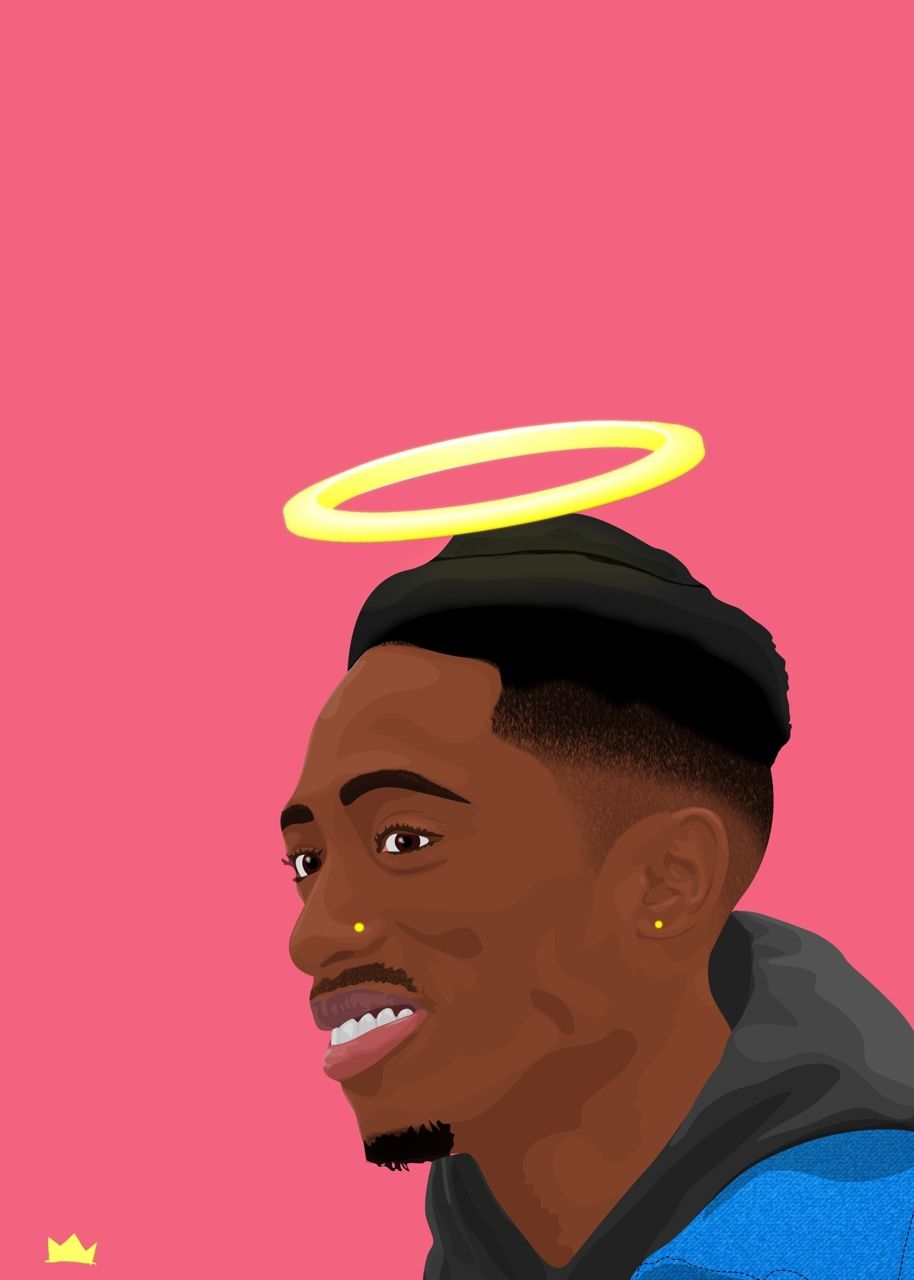 Tupac Shakur Bishop The Angel Tupac Art Trill Art Tupac Wallpaper